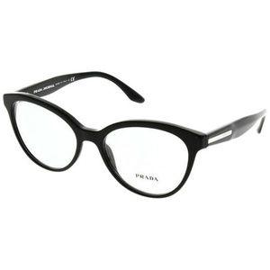 Prada Cat Eye Style Shiny Black W/Demo Lens